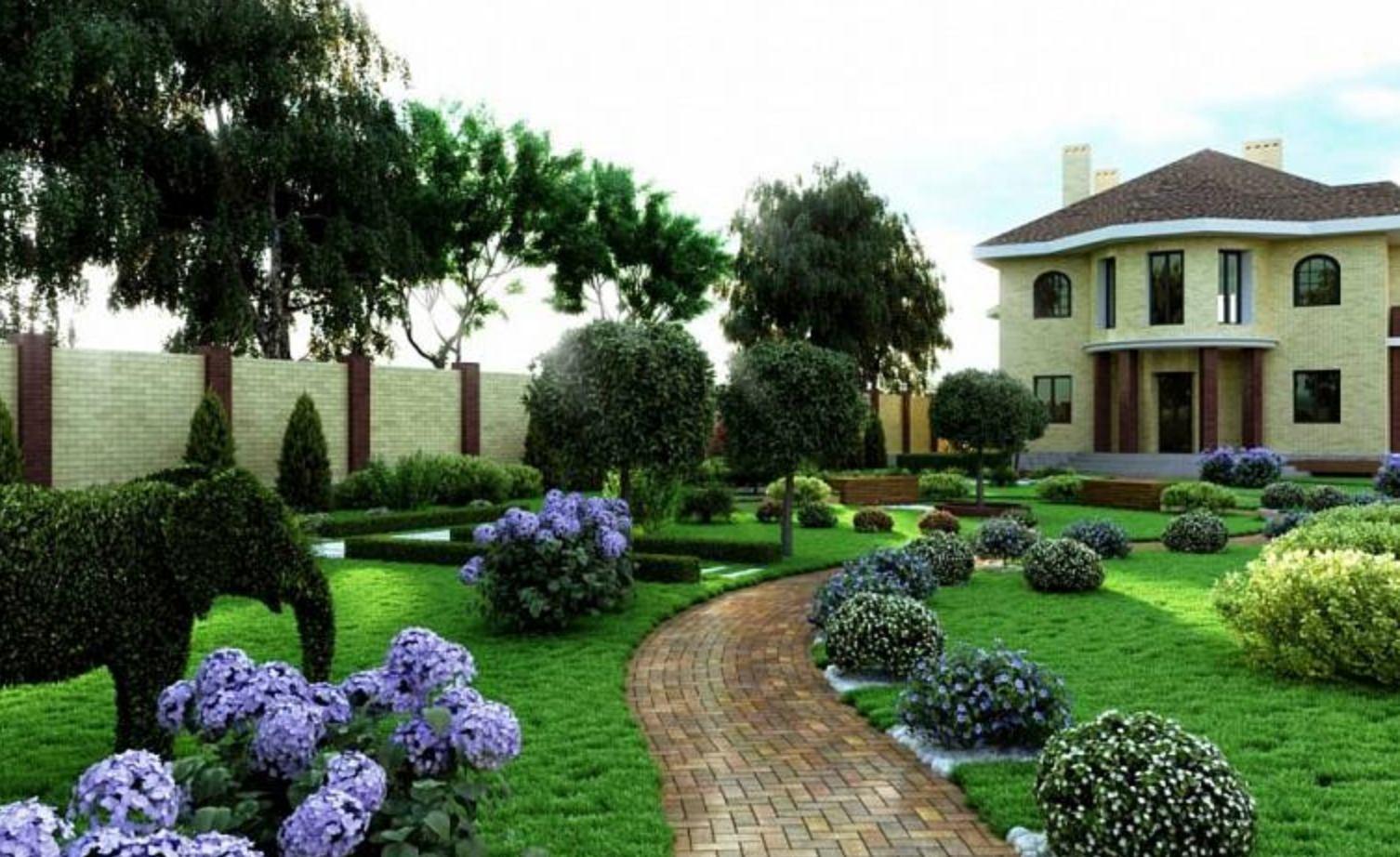 ландшафтне озеленення ділянок